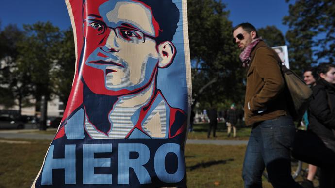 Snowden hero sign