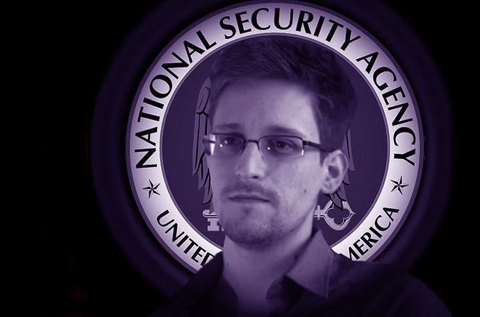 Snowden in NSA logo