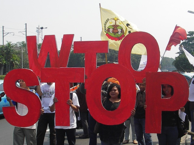 WTO Stop the WTO protest