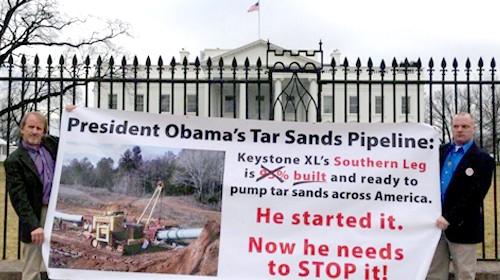 KXL protesters urge Obama halt start of southern portion
