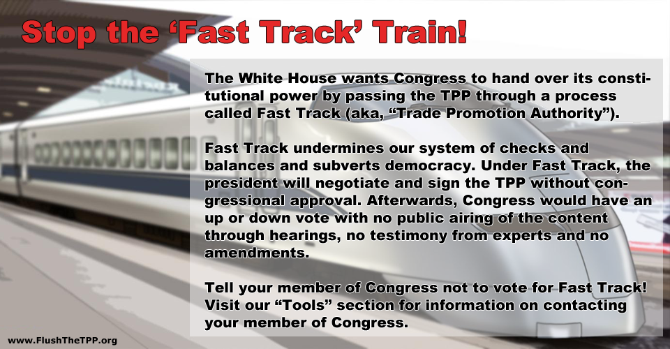 Stop the fast track train