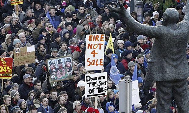 Anti-austerity rally, Dublin, 2010