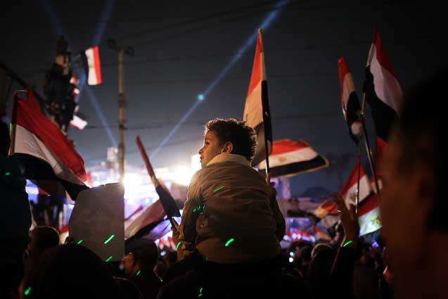 Egypt supporters of military rally