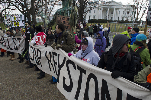 KXL white house protest Photo by Melanie Blanding