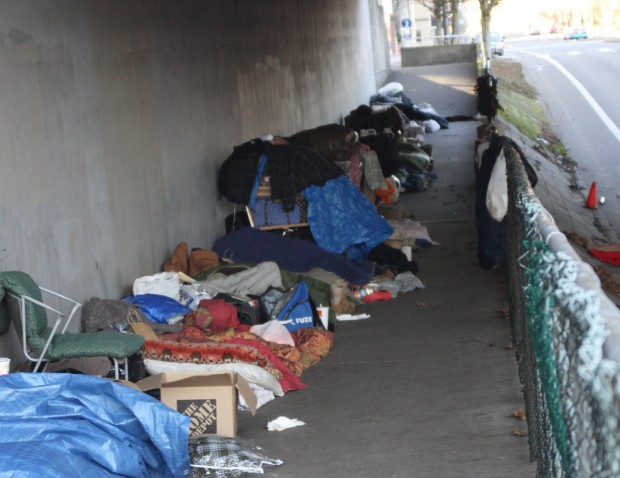 Portland homeless live in fear of frequent weekly sweeps by police.