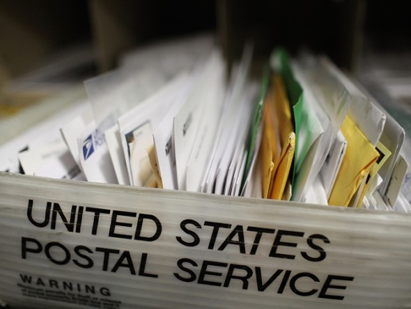 USPS Mail, source Justin Sullivan for Getty Images