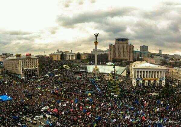 Ukraine protest massive