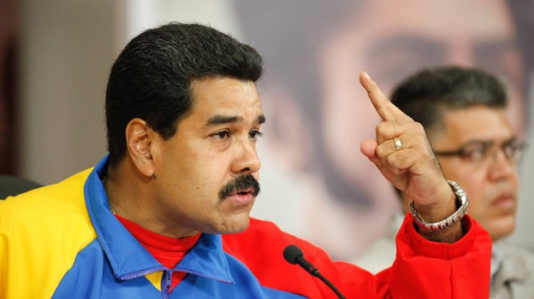 Venezuela's President Nicolas Maduro speaks during a national broadcast at Miraflores Palace in Caracas, February 16, 2014.(Reuters / Miraflores Palace)