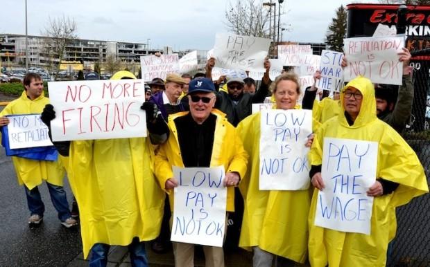 SeaTac $15 protest