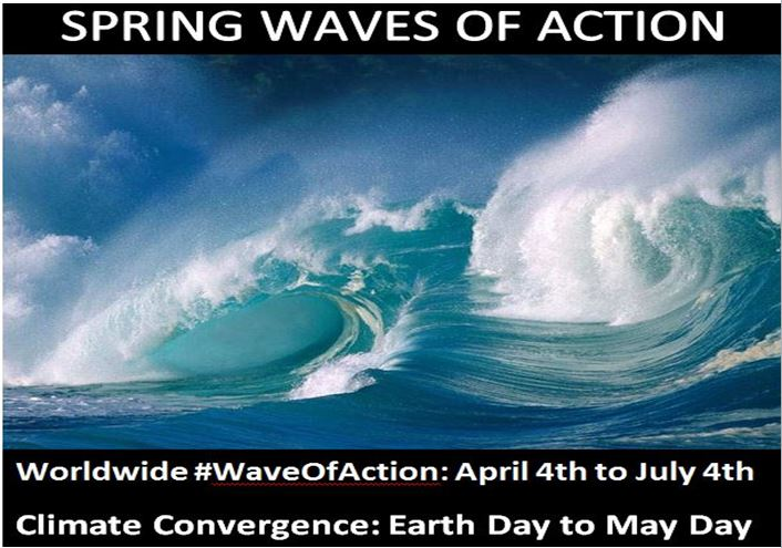 Spring Waves of Action