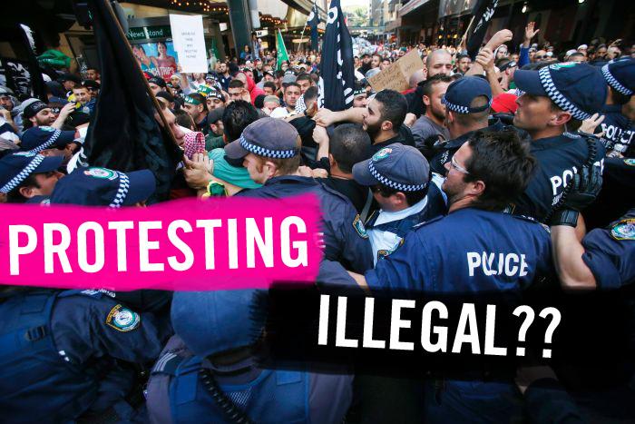 protest illegal