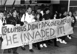 COlumbus Day protest 2
