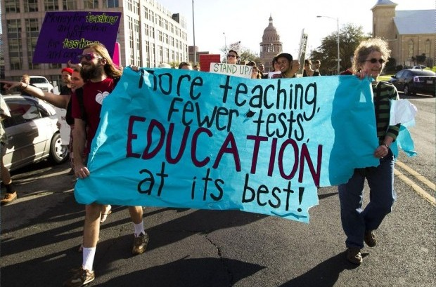 Education not testing chicago protest