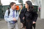 Glenn Greenwald and Laura Poitras arrived in New York on Friday to accept the prestigious Polk Award for national security reporting. Credit Brian Harkin for The New York Times