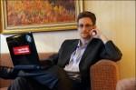 Snowden with computer facing forward, Dec 2013, Barton Gellman for The Washington Post