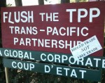 TPP protest sign from Petrovich lawn
