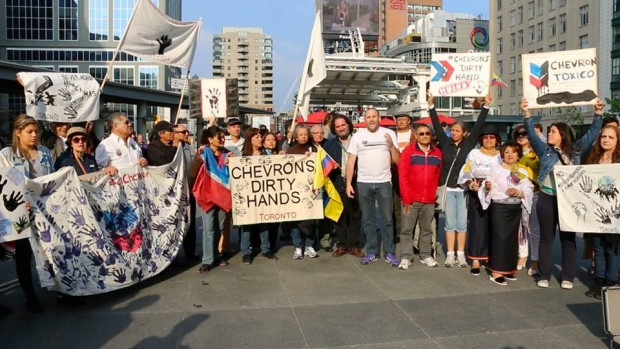 Chevron Protest in Toronto, Canada