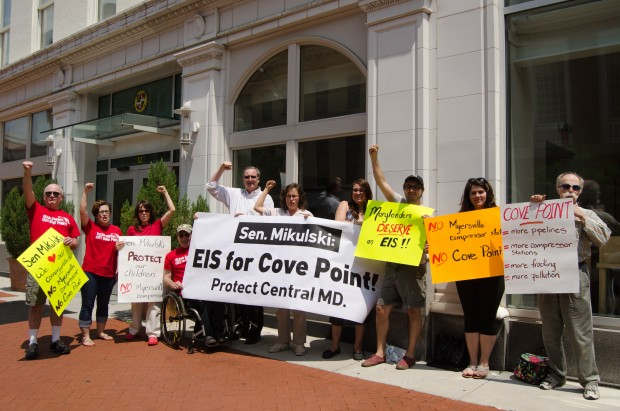 Cove Point Protesters at Mikulski office