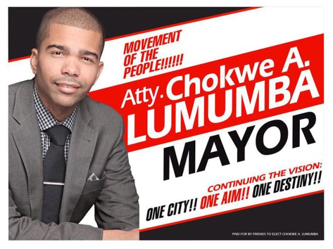 Jackson hokwe Antar Lumumba campaign poster