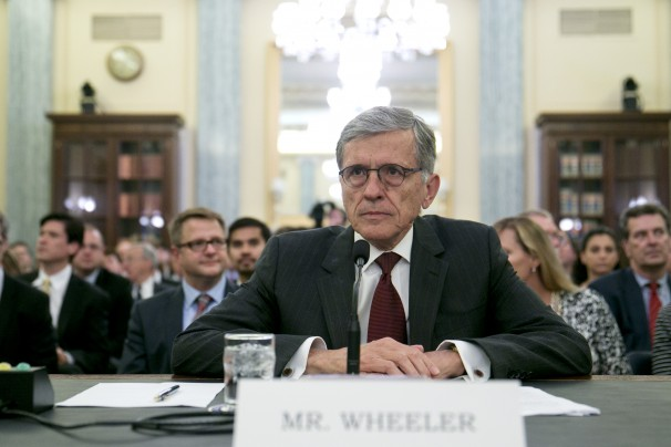 Thomas Wheeler at Senate Confirmation hearing by Andrew Harrer for BLOOMBERG
