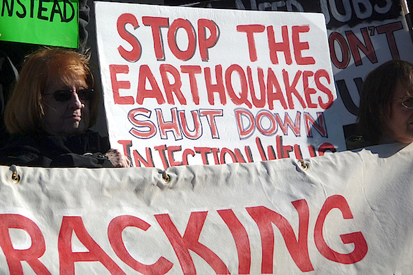 Fracking stop the earthquakes