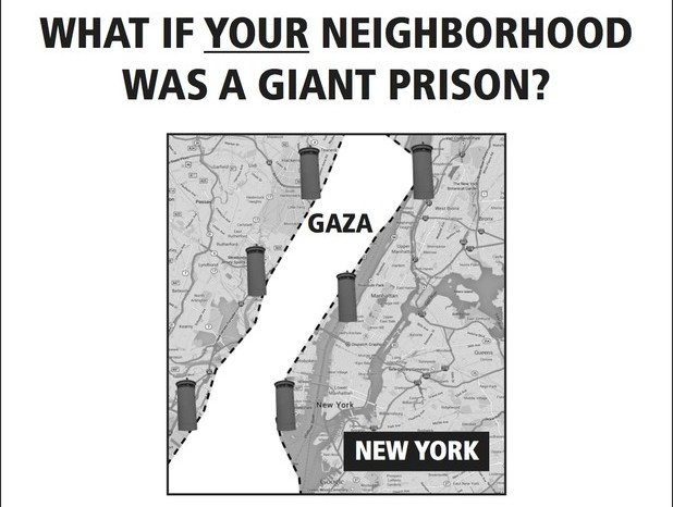 Israel Gaza mock ad showing Gaza as a prison