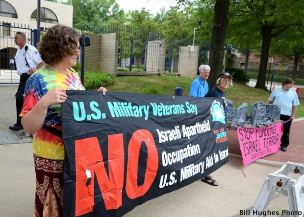 Veterans For Peace Protest At Israeli Embassy In Washington