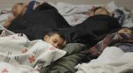 Migrant kids sleeping