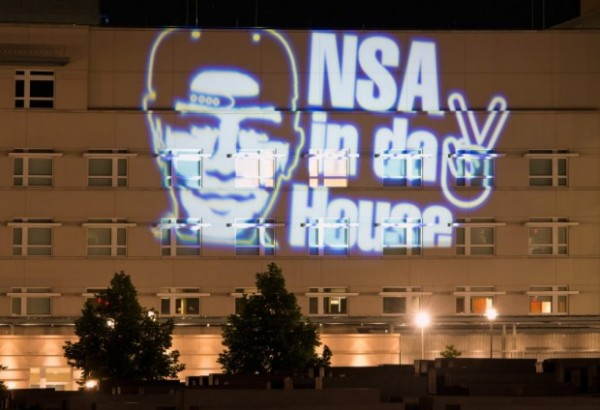 NSA protest US Embassy Berlin