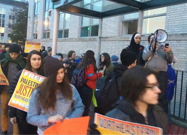 Northeastern student protest against Israeli apartheid