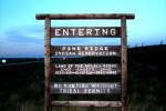 Pine Ridge entrance sign