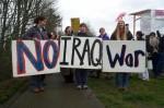 Iraq War No Iraq War protest sign