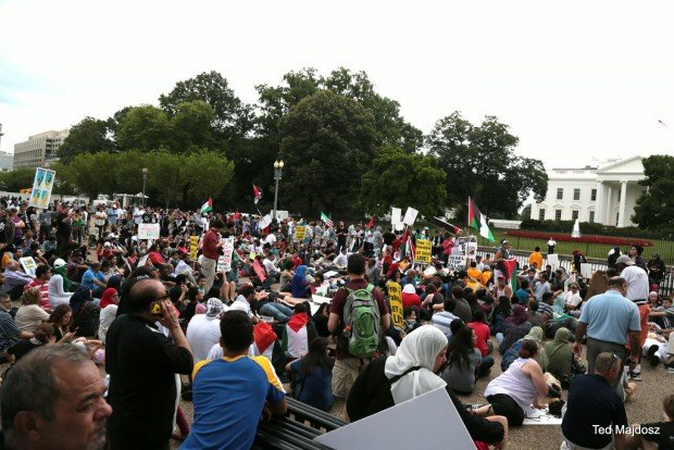 Israel protest in DC August 2, 2014