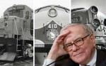 Buffett with trains