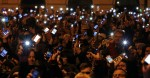 Internet tax protest in budapest Hungary, October 27, 2014