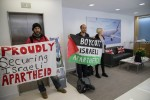 Israel Activists Occupy Airbus in London protesting weapons deals with Israel Oct 2014