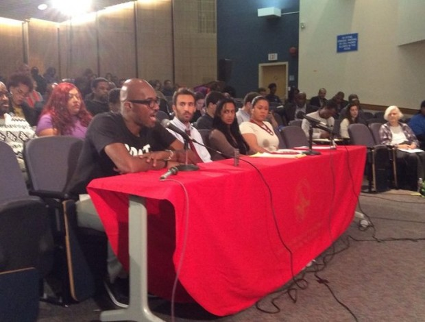 Kymone Freeman testifying before DC City Council