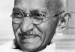 Mahatma Gandhi, close-up portrait