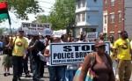 Protesting police brutality