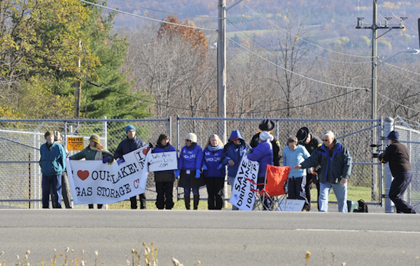 "The ""human blockade"" is attempting to obstruct the building of a gas storage facility / photo from WeAreSenecaLake"