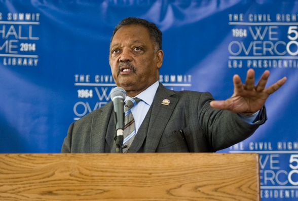 The Rev. Jesse Jackson addresses the Civil Rights Summit in Austin, Tex., in April. (EPA/Ashley Landis)