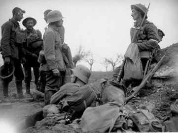 Christmas Truce soldiers chose to use the unofficial ceasefire to retrieve the bodies of their fallen friends who'd lost their lives on no man's land.