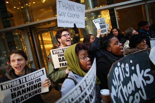 New Yorkers thank Cuomo for fracking ban. Source New York Times.