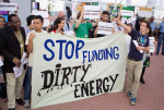 Activists demand that the COP20 government delegates approve measures to foment investment in renewable energies and eliminate their huge subsidies for fossil fuels. Credit: Joshua Wiese/IPS