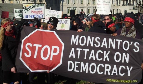 A sign at Wednesday morning's rally in front of the U.S. Capitol building. (Photo: Occupy Monsanto/@gmo917/Twitter)