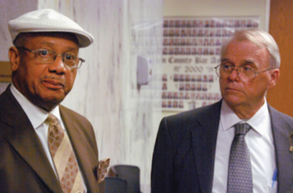 Rev. Edward Pinkney and his lawyer Tat Parish (Photo: John Madill)