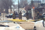 The scene of a reported explosion near the intersection of Moreno and El Paso Streets. (Photo: Eugene Daniels, KOAA)