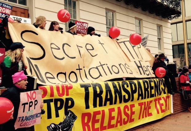 TPP protest out of USTR December 2014
