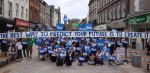 The best way to predict your future is creates Scottish independence protest 9-14
