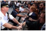 NYPD Protects Wall Street from Flood Wall Street Protesters.